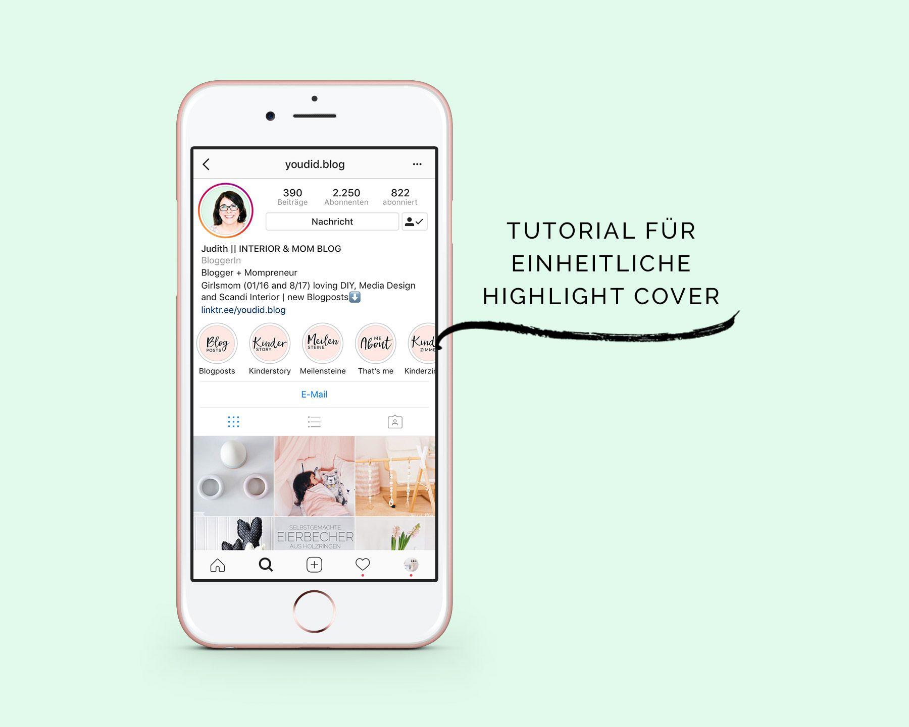 Einheitliche Instagram Highlight Cover erstellen + Free Instagram ...