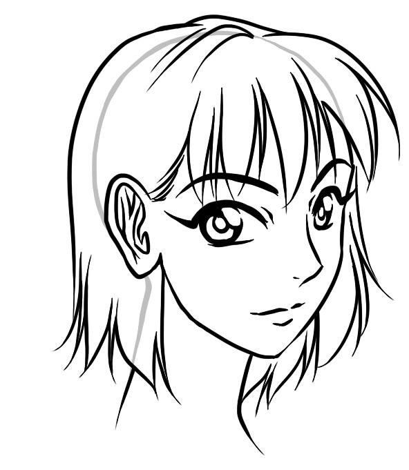 basic manga hair hair styles manga hair drawings manga 20s Flapper Hairstyles basic manga hair