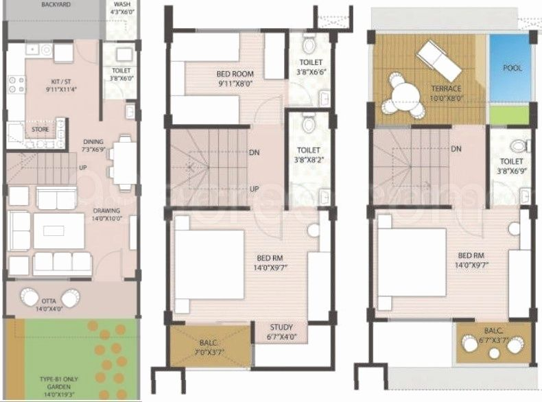 Row Housing Plans House Plans Model House Plan House Plan Gallery