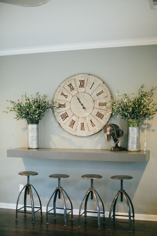 Joanna gaines hallway decor  Metal Canister  Magnolia Adjustable stool and Metals