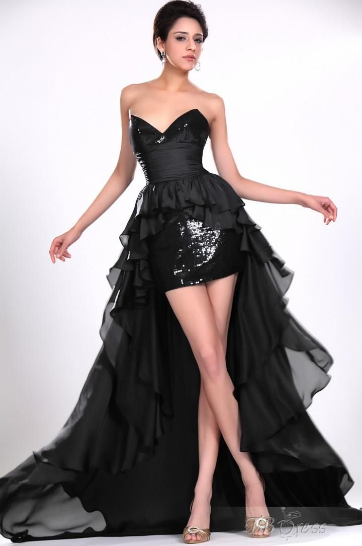 Sweetheart A-Line Court Train Sequins Evening/Homecoming Dresses  $175.49