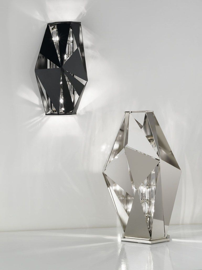 Crystal Rock Table Lamp Metal Table Lamps Swarovski Crystals