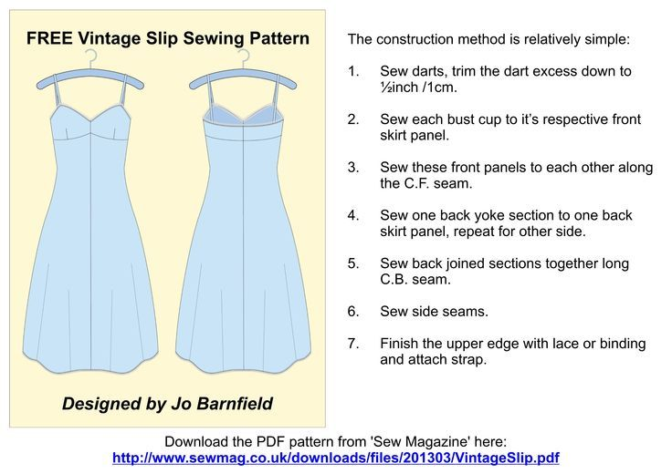 Fine Slip Pattern Sewing Images - Sewing Ideas ...