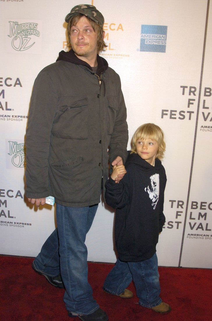 Pin for Later: 26 Times Norman Reedus Proved He Was Surprisingly Adorable When He Adorably Held Hands With His Son on the Red Carpet