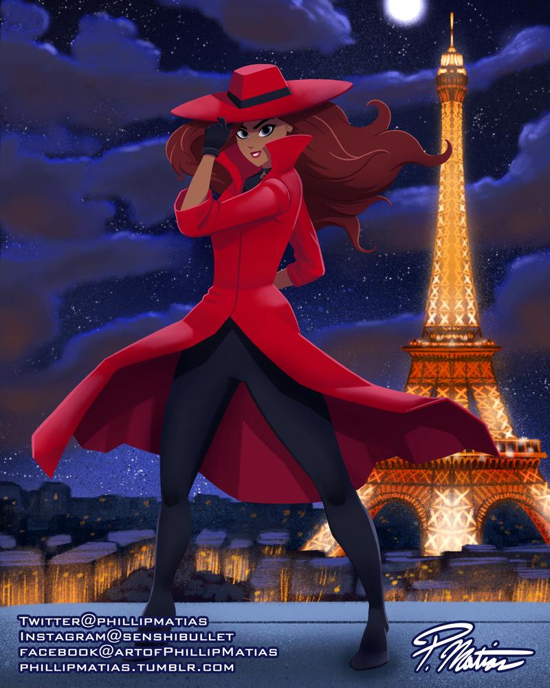 Carmen Sandiego In Paris By Bw Straybullet On Deviantart Carmen Sandiego Carmen Sandiago San Diego