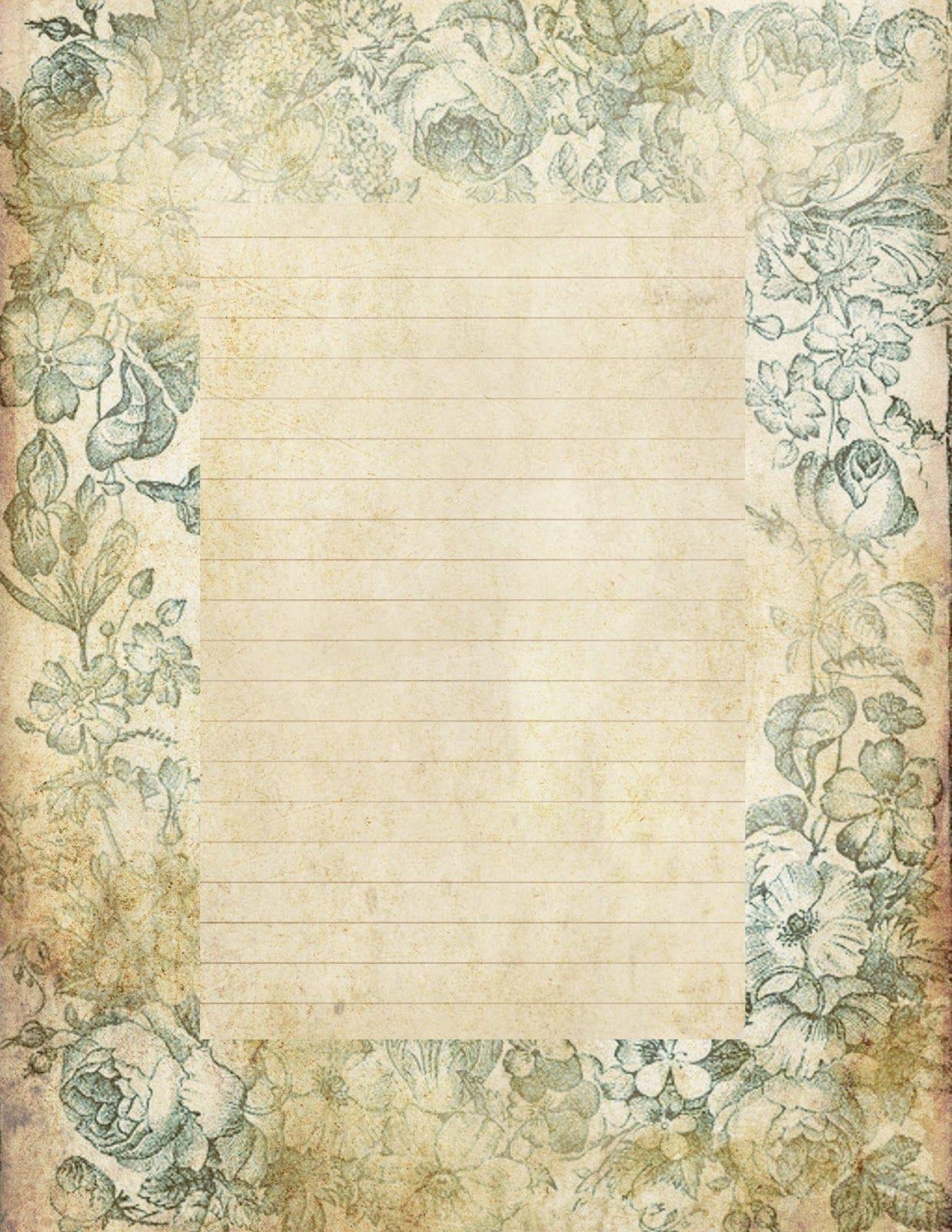 Ldr Love Letter Paper Vintage Printables Digital Scrapbook Paper Vintage Stationary