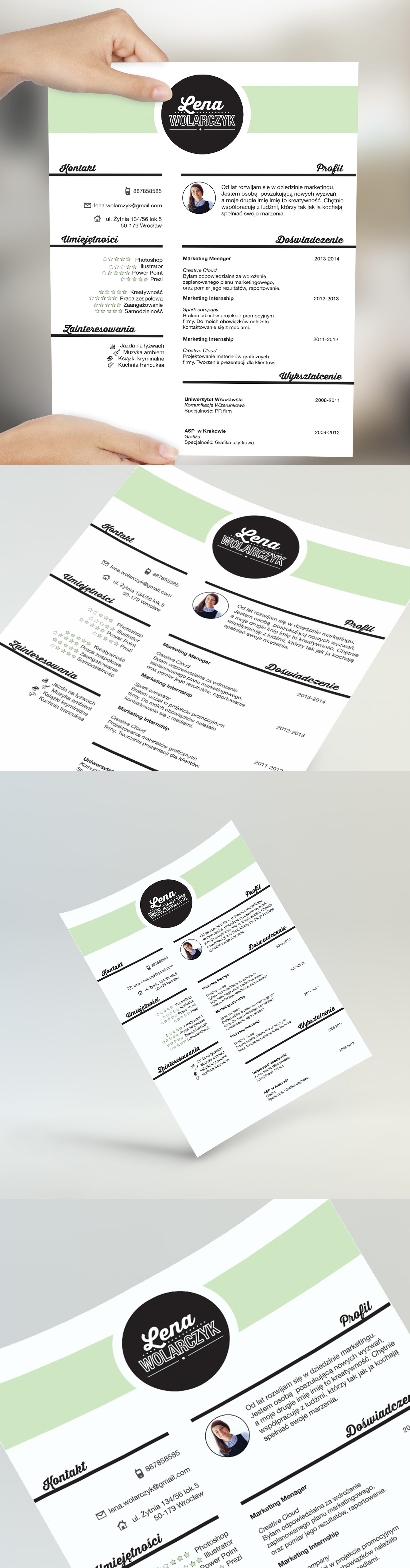 creative resume by cvdesign find us on etsy resumes
