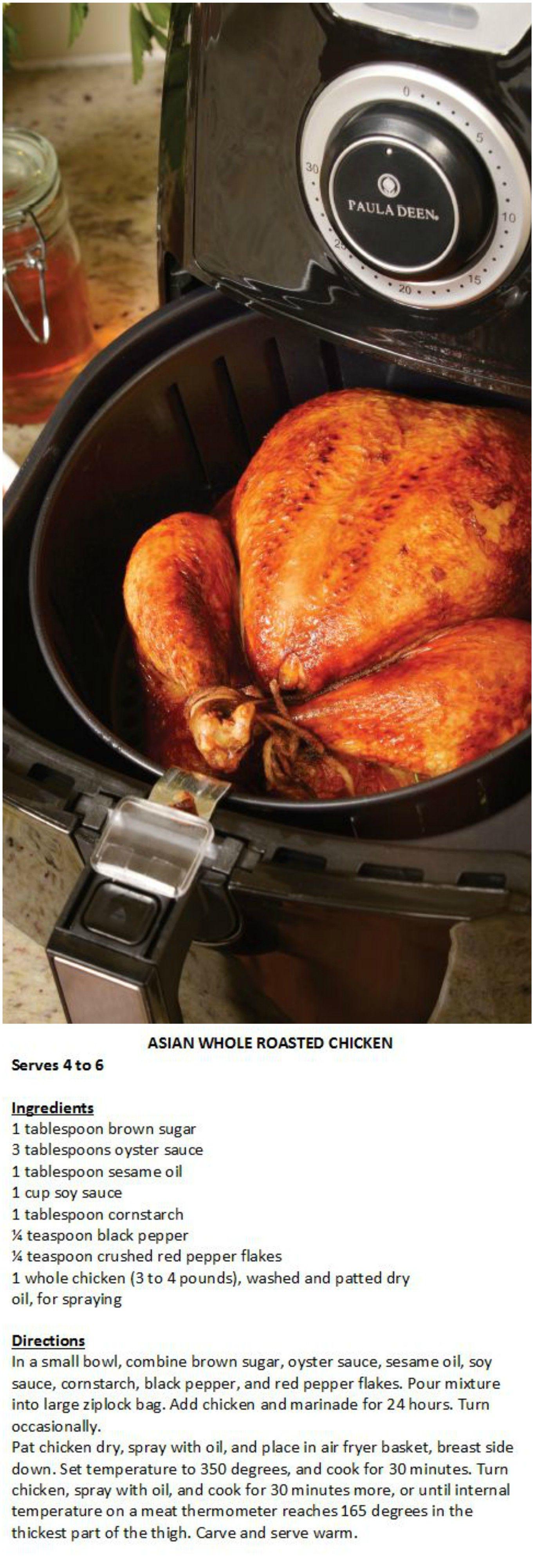 Paula Deen 3.5 qt 1400W Ceramic Nonstick Air Fryer w/ Four