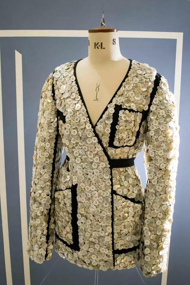 Button-embellished jacket S/S 2012  Maison Martin Margiela #jacket #button #maisonmartinmargiela #mmm #mm6 #couture