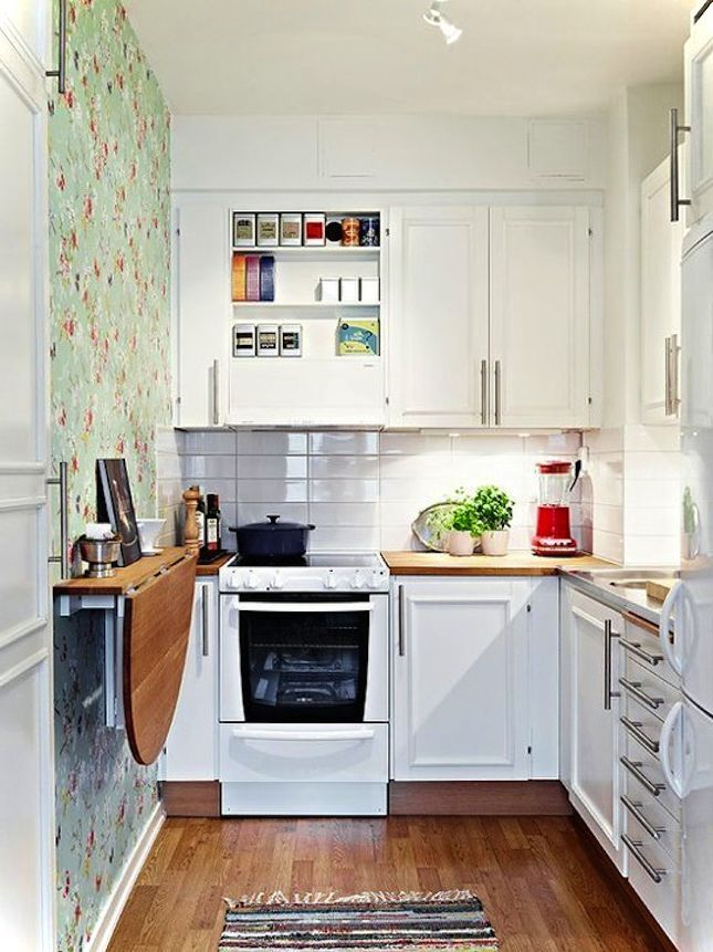 Best Beautiful Small Kitchen Simple With Fold Down Table 400 x 300