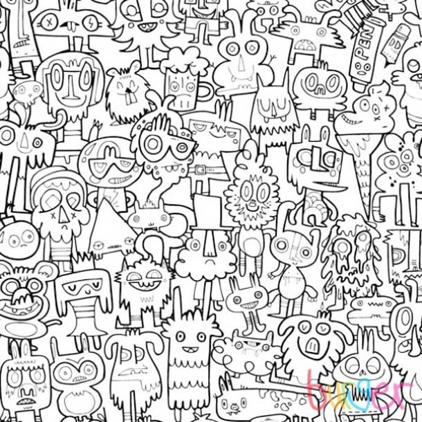 burgerdoodles le papier peint colorier soi m me wallpaper pinterest coloriage g ant. Black Bedroom Furniture Sets. Home Design Ideas