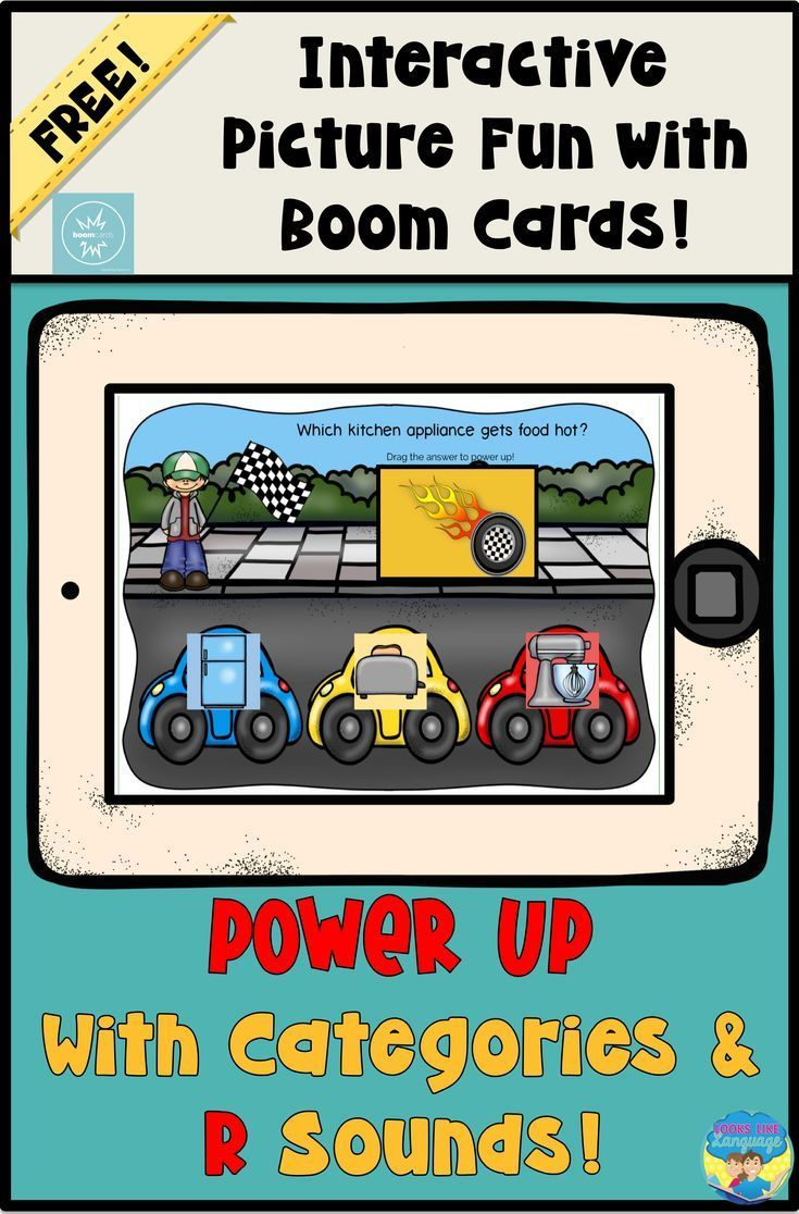 Boom cards speech therapy teletherapy categories r