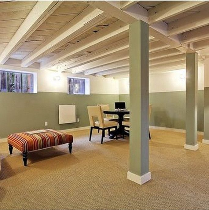 Awesome Unfinished Basement Ideas On A Budget Part - 10: Unfinished Basement Ideas. Tags: On A Budget, DIY, Cheap, Industrial, For  Kids, Bedroom, Walls, Floors, Ceiling, Laundry, Before And After, For  Teens, ...