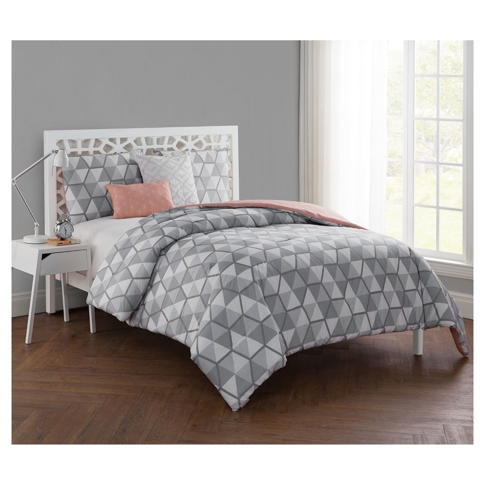 Gray Brynley Comforter Set Full Queen Vcny Comforter Sets