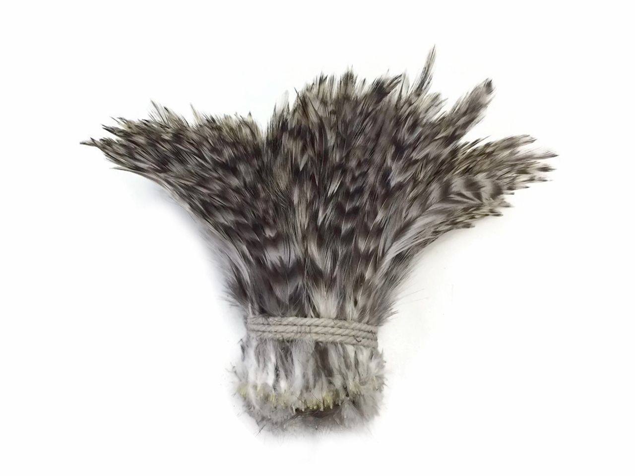 4 Inch Strip GREY CHINCHILLA Strung Rooster Neck Hackle Feathers