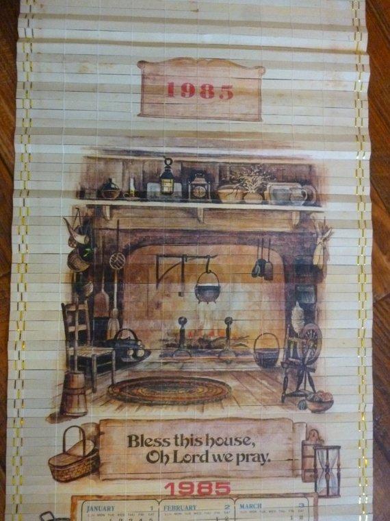 1985 Scroll Calendar Nadel Sons Taiwan Bless This House