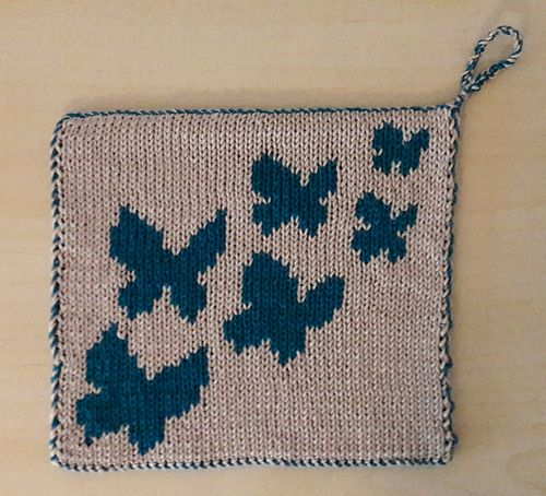 This pattern includes a chart and double knitting ...
