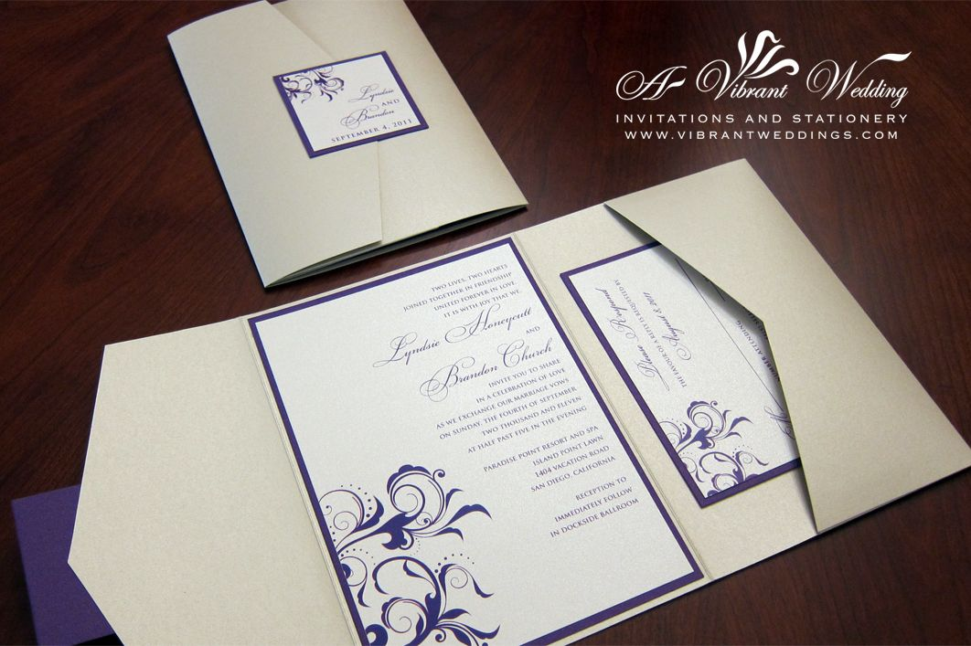 wedding posts about ivory purple invitation these are long suitable for a story like the kind you might wanna - Ivory Wedding Invitations