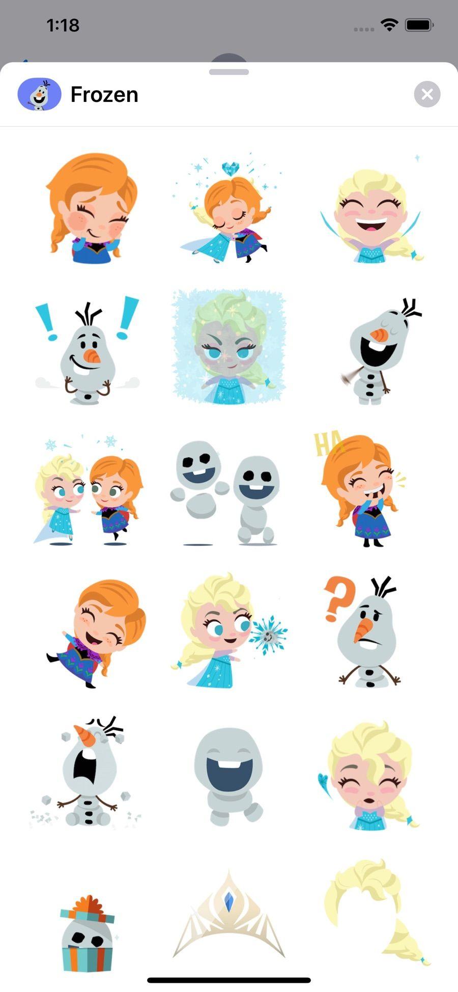 Disney Stickers Frozen on the App Store in 2020 Disney