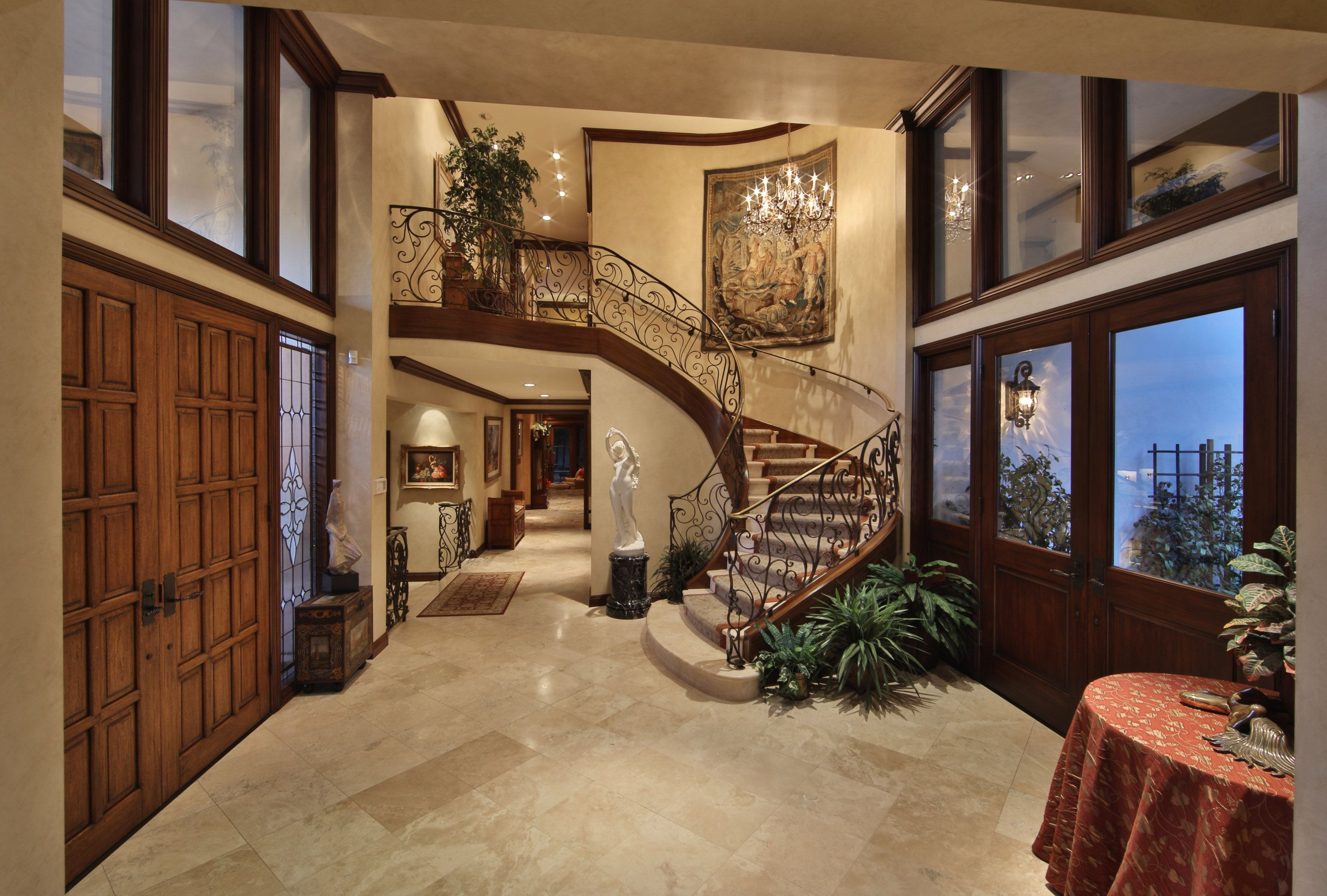 Best Curved Staircase In Luxury Home Entry Way Indoor Stair 640 x 480