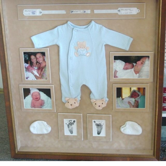 Shadow box I'm gonna make for JAG's first birthday