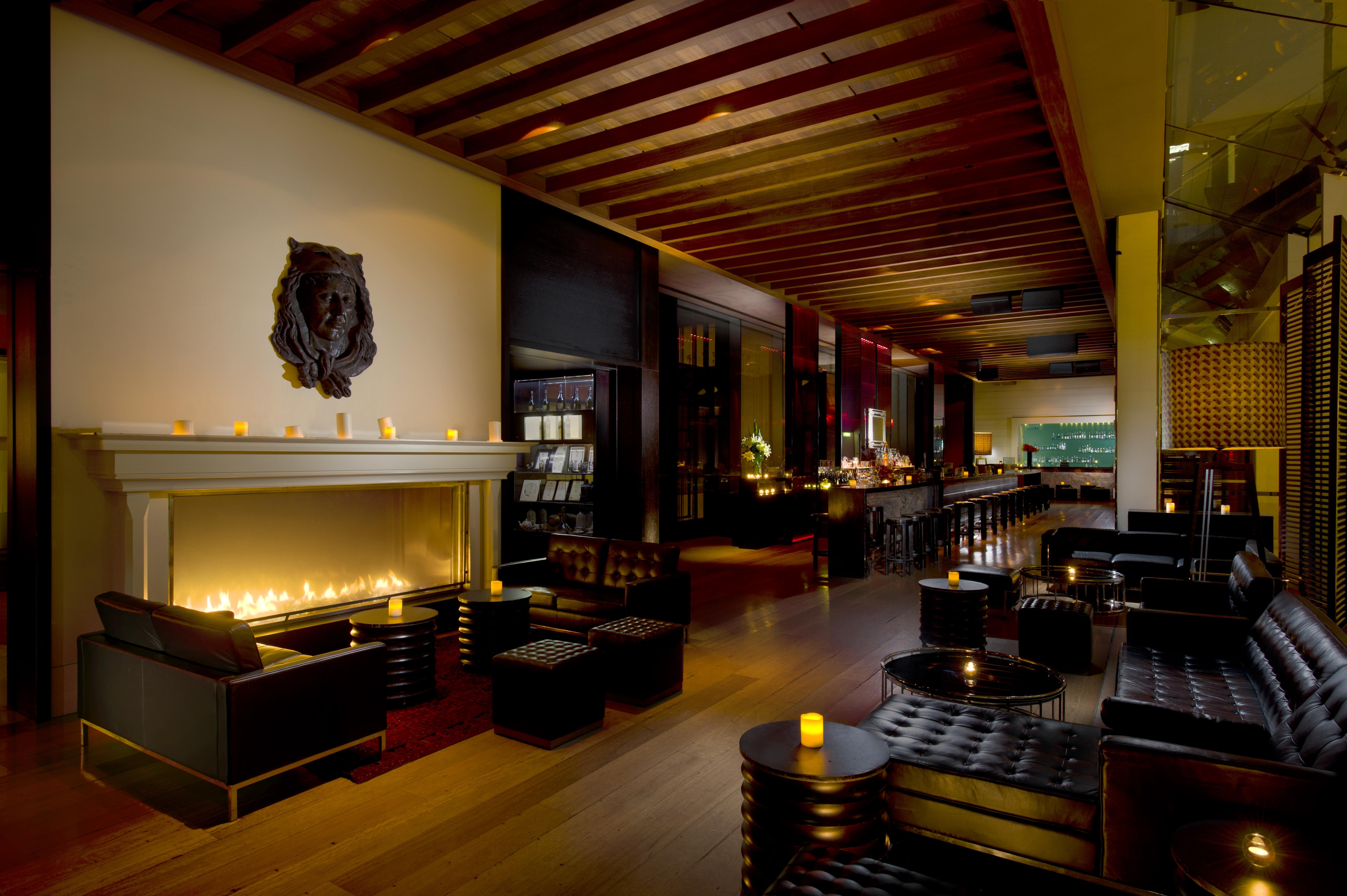 the suave lounge area at Zeta bar in the Hilton Sydney ...
