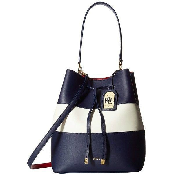 LAUREN RALPH LAUREN - DRYDEN - DEBBY - Drawstring - Marine Vanilla Red -  Handbag #