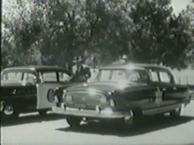 "Guest starring the 1955 Nash, here on ""Highway Patrol,"" with Broderick Crawford."