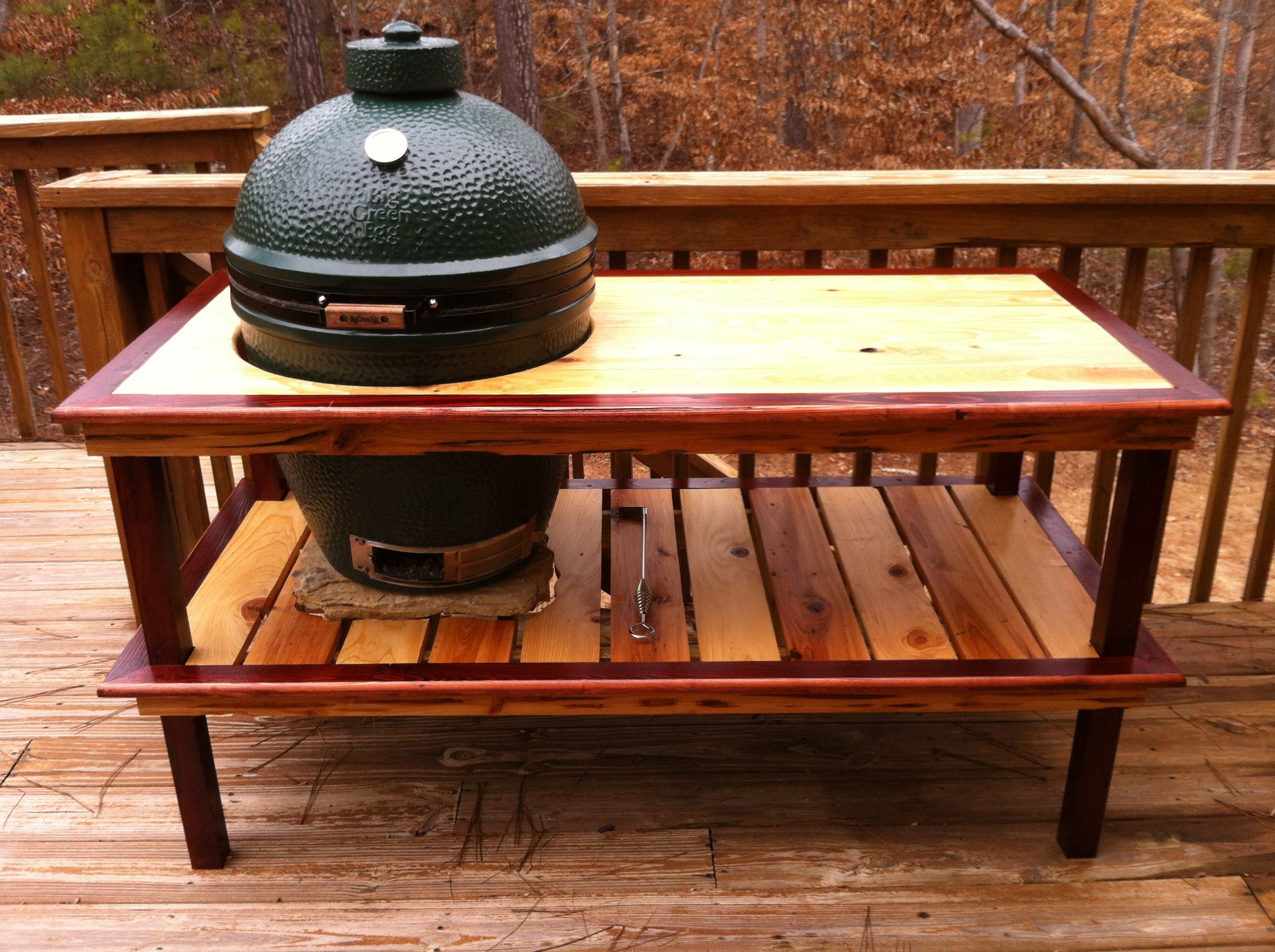 Wood Work Table Plans For Xl Big Green Egg PDF Plans