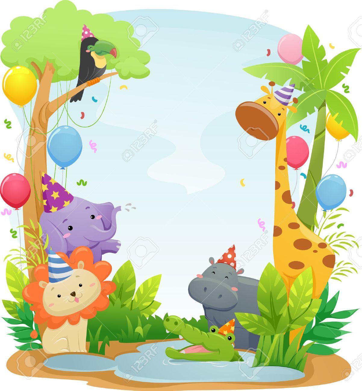 15+ Birthday Zoo Animals Clipart