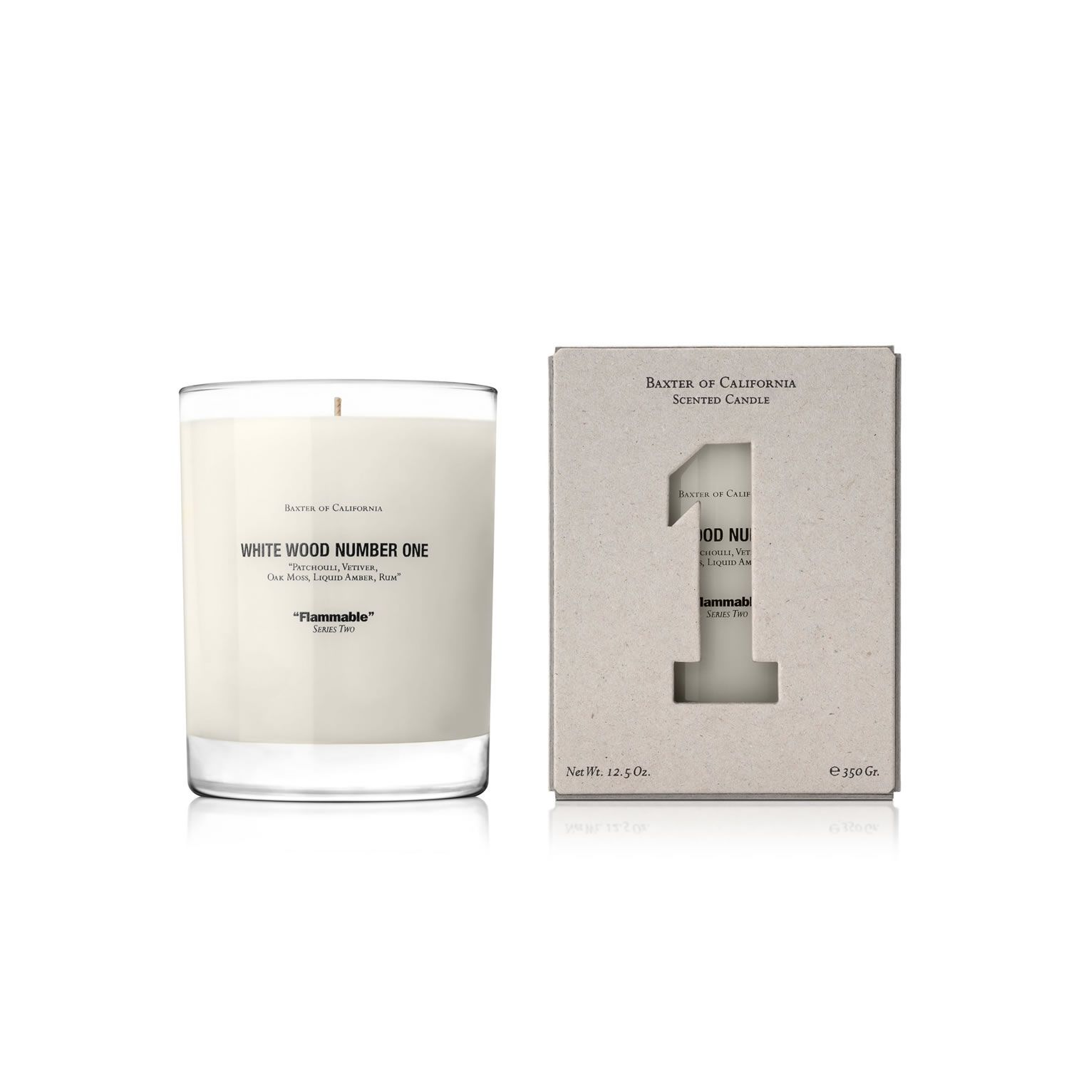 Baxter of California Flammable Candle - White Wood -Number 1
