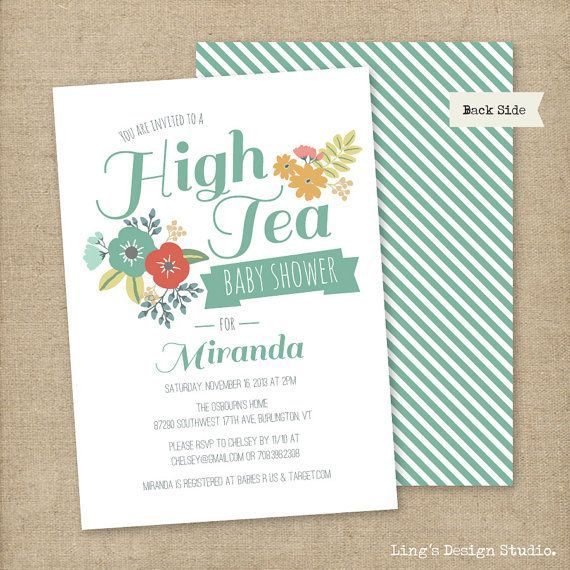High tea invitation etsy google search pg pinterest high tea high tea invitation etsy google search filmwisefo Image collections