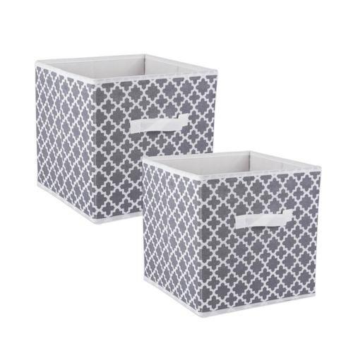 Dii 2 Pack 12 9 In W X 12 9 In H X 12 9 In D Gray Fabric Bin Lowes Com Fabric Storage Bins Cube Storage Bins Cube Storage