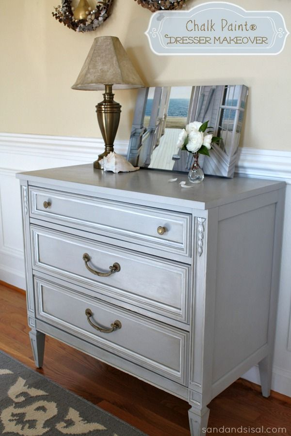 Chalk Paint® Dresser Makeover Part   Chalk paint White chalk