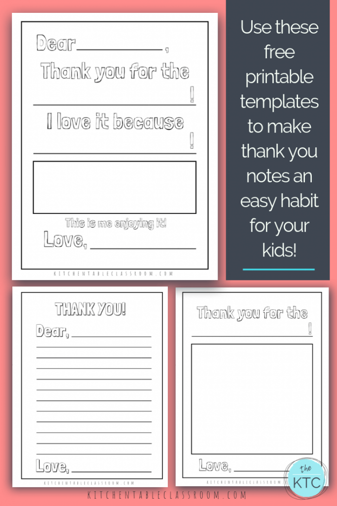 Printable Thank You Cards For Kids The Kitchen Table Classroom Thank You Note Template Printable Thank You Cards Printable Note Cards
