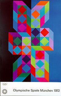Plakat: Olympische Spiele München 1972, 1970
