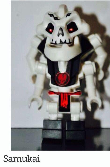 Lego Samukai Minifigure Legos Ninjago Fire Temple Set 2507 For