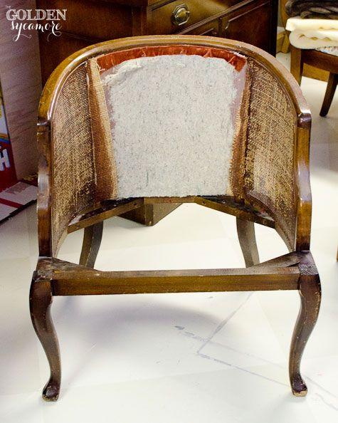 part one of a two part tutorial on how to reupholster a tufted cane chair explains how to. Black Bedroom Furniture Sets. Home Design Ideas