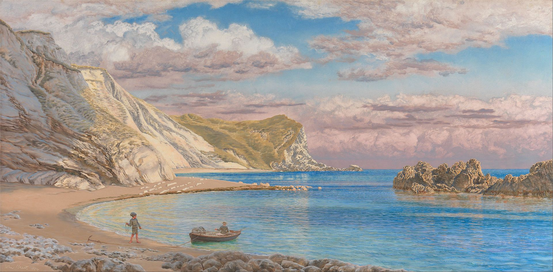 John Brett - Man of War Rocks, Coast of Dorset - Google Art Project - John Brett (artist) - Wikipedia, the free encyclopedia