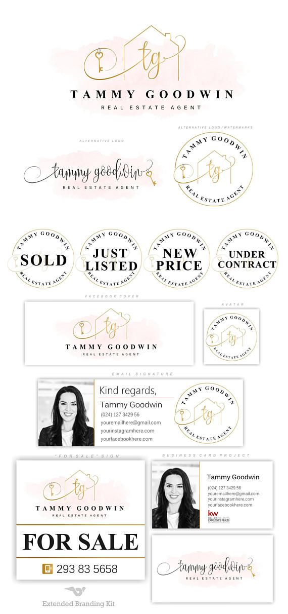 Real Estate logo set, House logo, Key logo, Realtor logo, Premade ...
