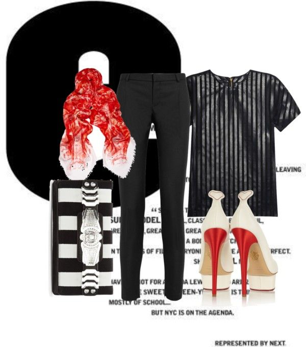 """""""Red and stripes..."""" by euroskap ❤ liked on Polyvore"""