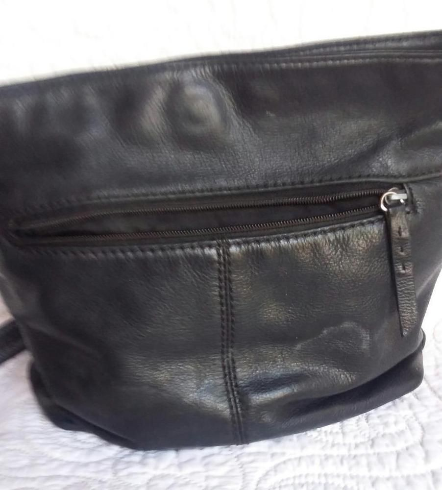 Stone Mountain Soft Black Leather Purse With Straps Women Purses