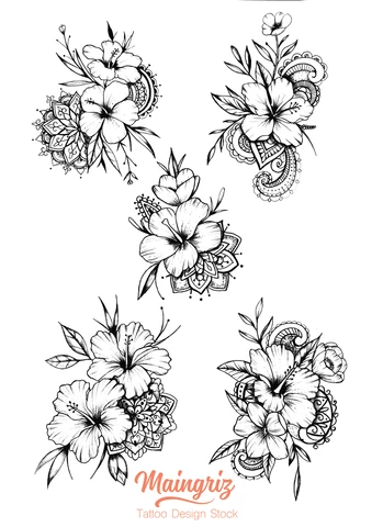 Hibiscus Mandala Tattoo Design 6 Tattoos For Women Flowers Hawaiian Flower Tattoos Mandala Tattoo Design