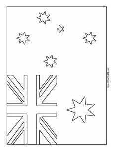 Free Printable Australia Flag Coloring Page Girl Scouts Ideas