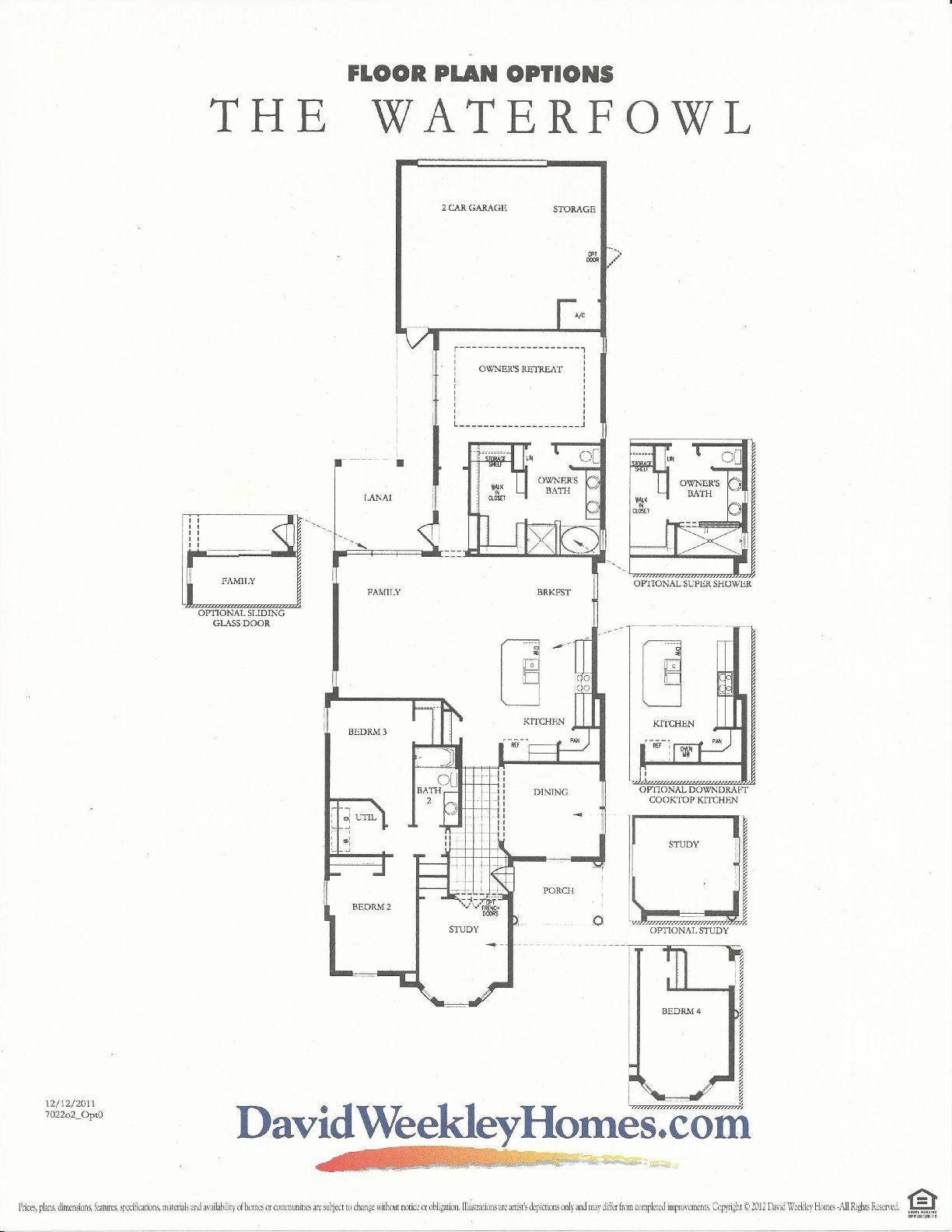 Oakland Park Waterfowl Floor Plan #2 By David Weekly Homes In Winter Garden  FL