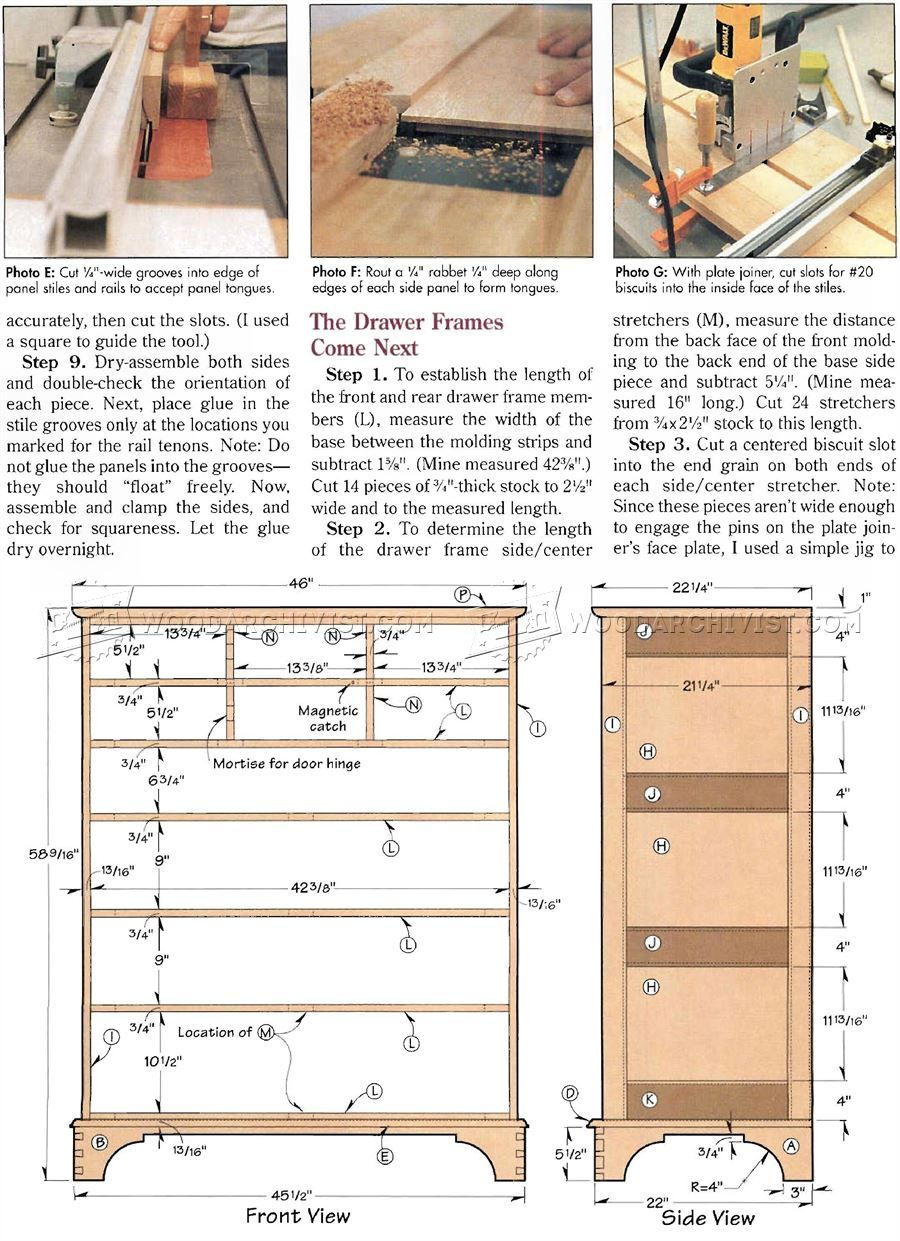 Drawer Dresser Plans Furniture Plans Planos de carpintería