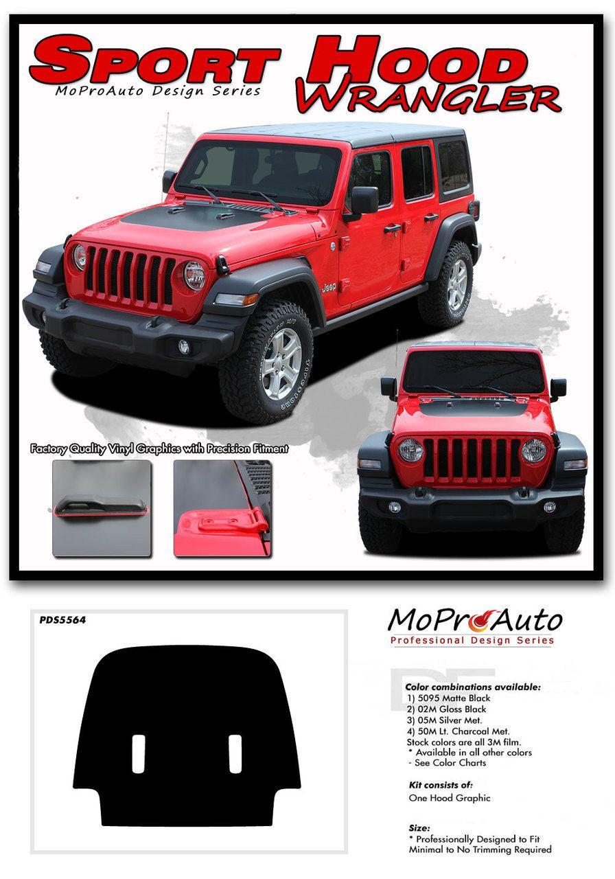 Wrangler Sport Hood Jeep Wrangler Jl Hood Vinyl Graphics Decal Stripe Kit For 2018 2019 2020 Models Jeep Wrangler Vinyl Graphics Jeep Sport