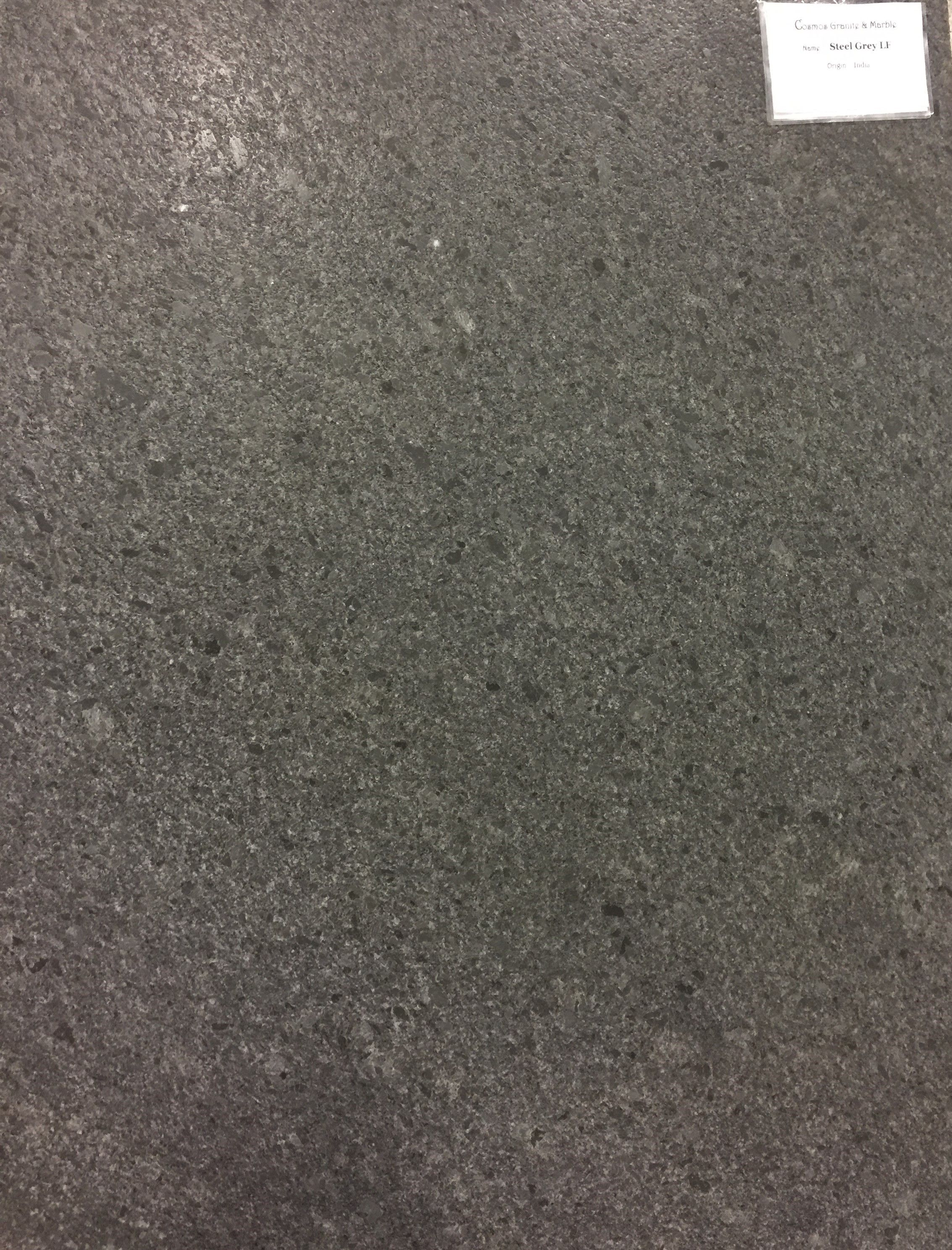 Steel Gray Granite Leathered Finish Leather Granite Countertops Honed Granite Countertops