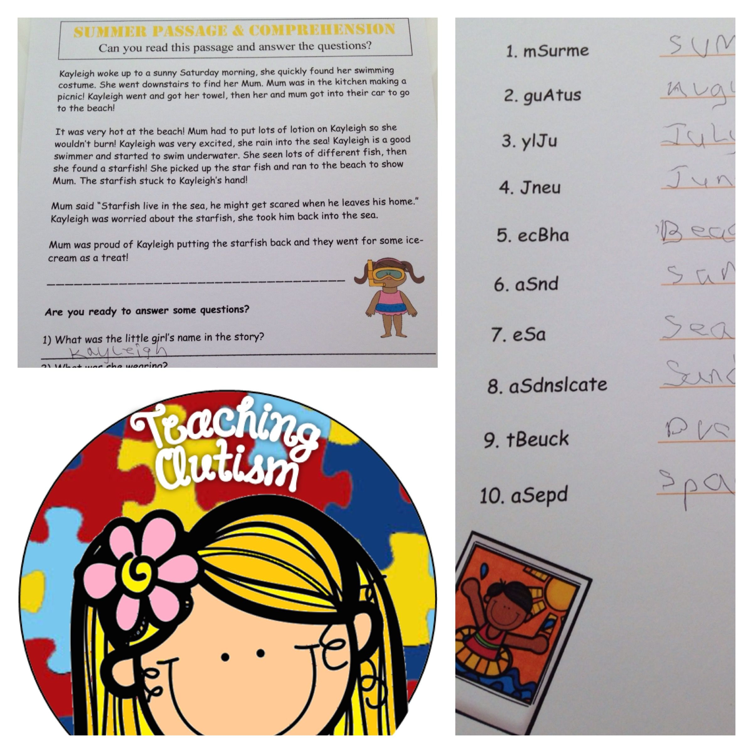 Some Of The Worksheets Included In The Giant Summer Bundle