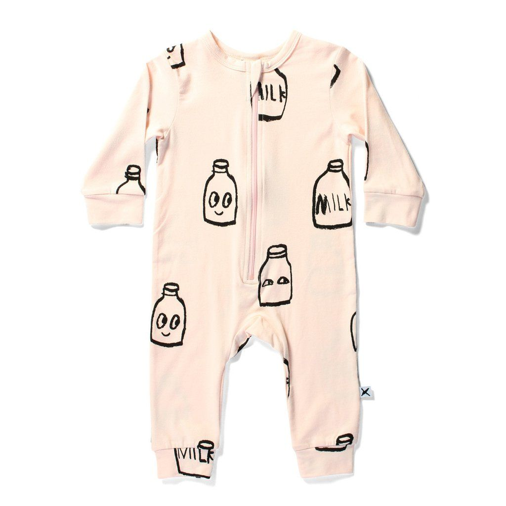 586397fd793 Minti Baby Pink Milk Bottles Jumpsuit ~ Cool Baby Clothes ~ Tiny Style  Australia